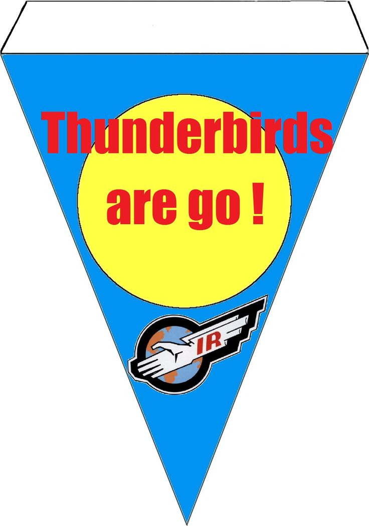 Thunderbirds are go bunting