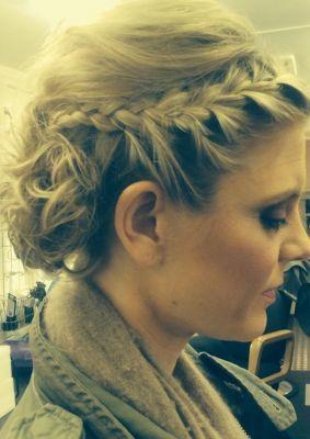 Emilia Fox good hair day