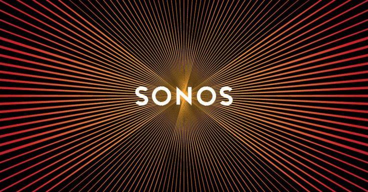 Sonos, Logo erzeugt visuelle Schallwellen beim scrollen (Moirèe-Effekt)