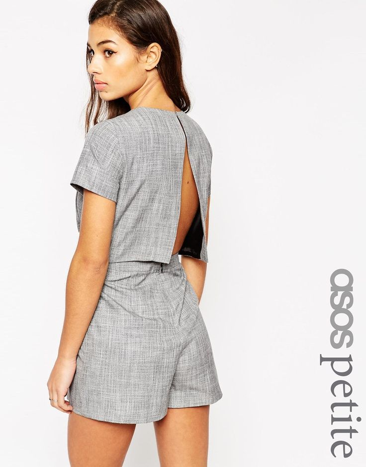 ASOS+PETITE+Playsuit+with+Open+Back+Sleeves