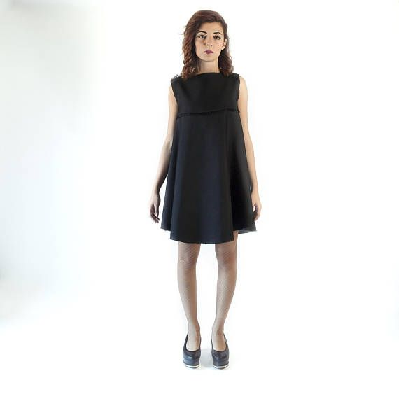 Asymmetrical dress for women  futuristic clothing  cyberpunk