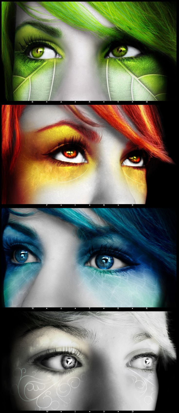 Try & do a version of the blue or green with makeup? May or may not look right with my brown eyes....