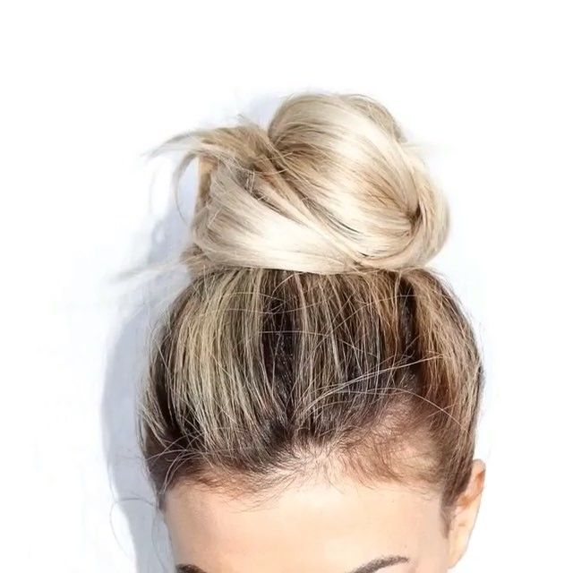 """TopKnot Tutorial by @blohaute .... """"The people you surround yourself with influence your behaviors, so choose friends who have healthy HABITs"""" -buettner"""