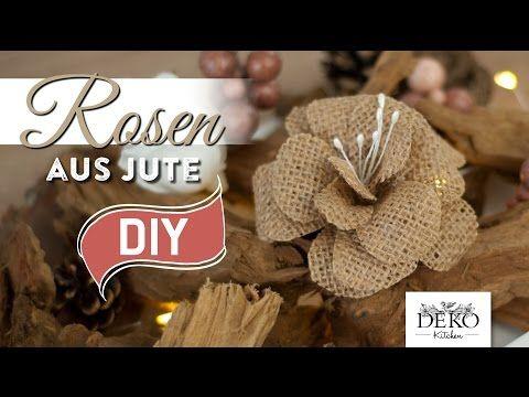 DIY: Rosen aus Jute für tolle Herbst-Dekos | Deko Kitchen - YouTube