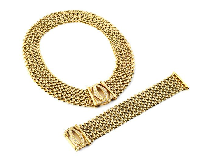 Cartier Necklace And Armband Set 18kt Yellow Gold Bracciale Cartier Gioielli Cartier Gioielli Antichi