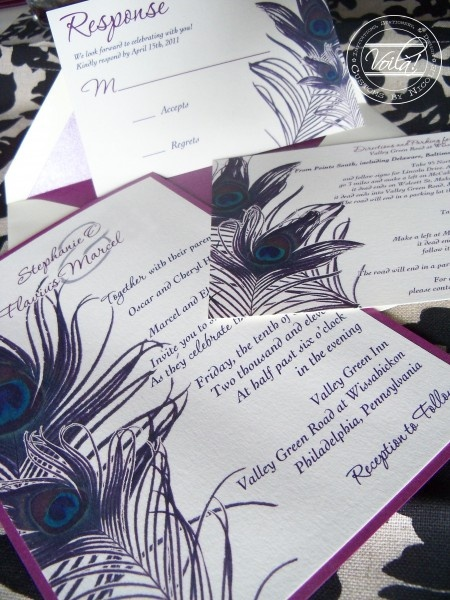 beautiful invitation and response cards