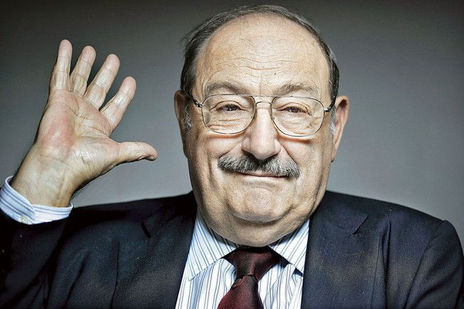 Umberto Eco. We were clever enough to turn a laundry list into poetry