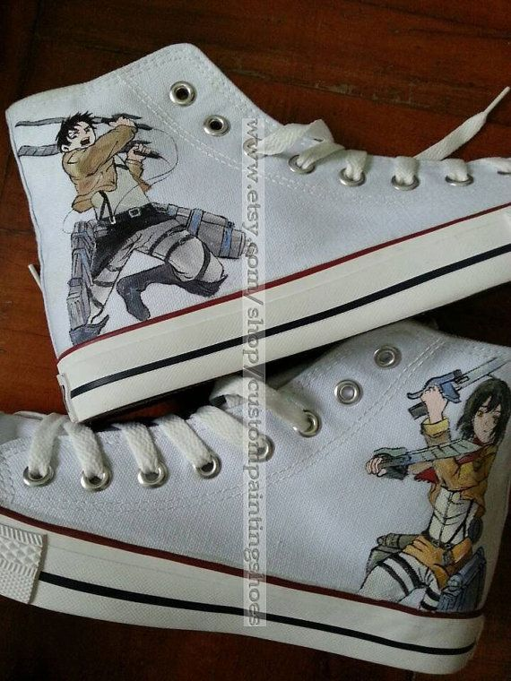 attack on titan anime shoes attack on titan by custompaintingshoes, $59.99