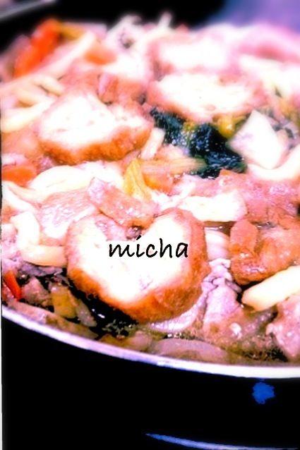 仙台名産?! 主流の油麩丼ではなく、油麩うどんにしました٩(๑′∀ ‵๑)۶•*¨*•.¸¸♪ - 25件のもぐもぐ - 油麩入り鍋焼き醤油うどん。 by micha37hsh