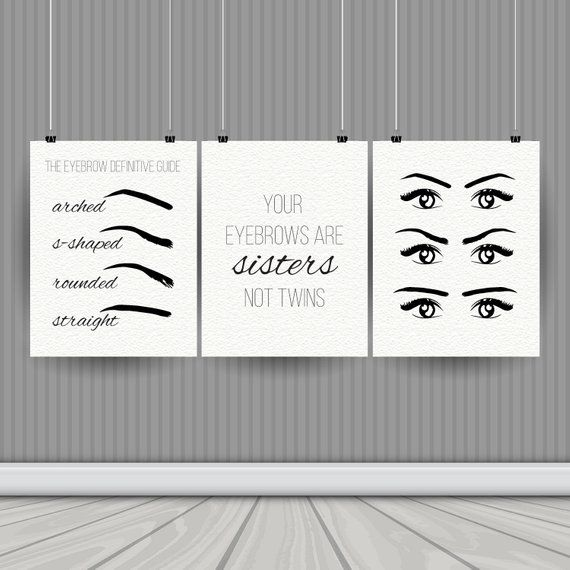 Instant Download – Digital Art Printable – Easy DIY – Print at Home – Eyebrow – SALON Decor – Front Porch Press