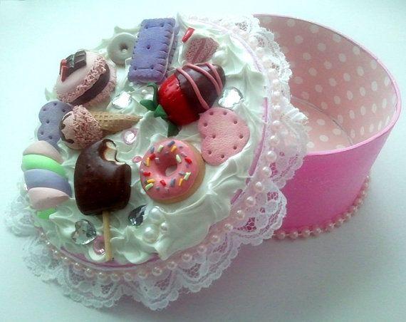 Polymer Clay Dessert Decoden Keepsake Box