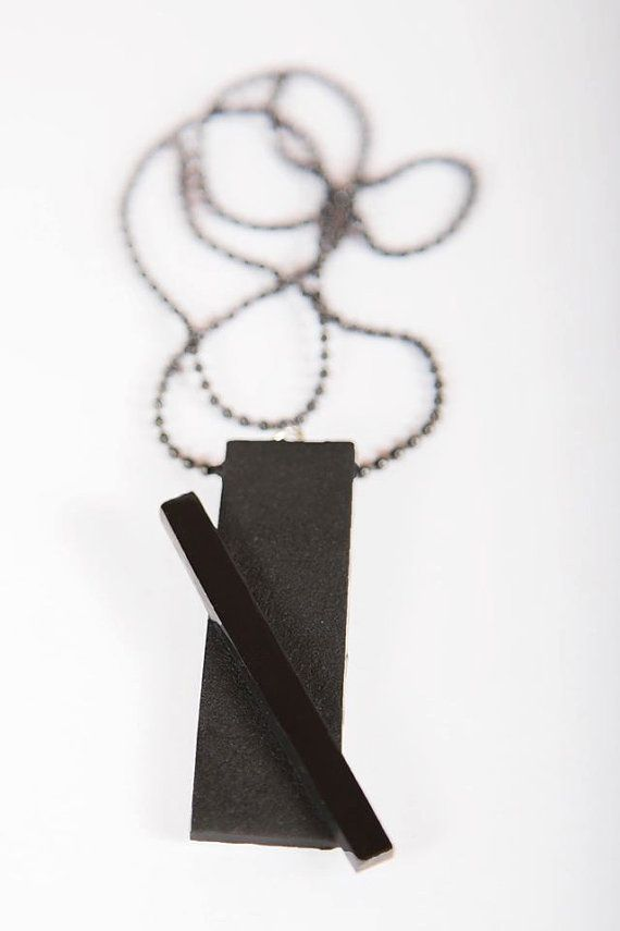 Effortless rectangle pendant by pilofori on Etsy