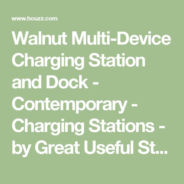 Walnut Multi-Device Charging Station and Dock - Contemporary - Charging Stations - by Great Useful Stuff