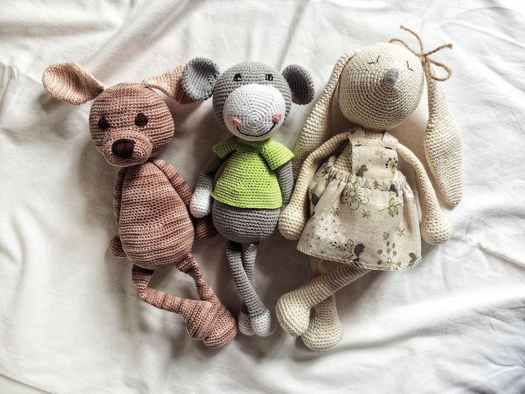 Crochet pets  Bunny crochet Monkey crochet  Little dog crochet