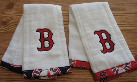 Red Sox Baby Boston Red Sox Baby Burp Cloth MLB Red Sox Baseball Baby Spit-up Rag Drool Cloth New Baby Shower Gift