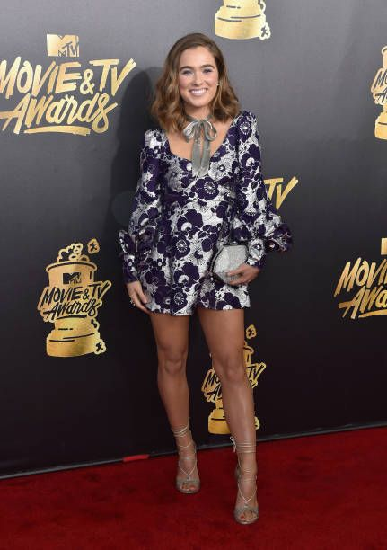 Actor Haley Lu Richardson attends the 2017 MTV Movie And TV Awards at The Shrine Auditorium on May 7 2017 in Los Angeles California