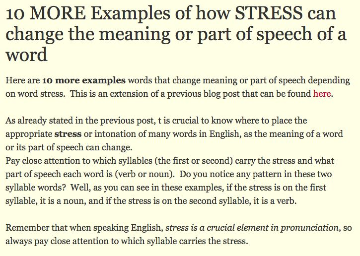 phonologyrules for stress in english essay This free linguistics essay on essay: a contrastive study between derivation in english and arabic is perfect for linguistics students to use as an example.