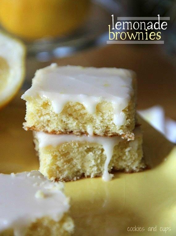 Lemonade Brownies