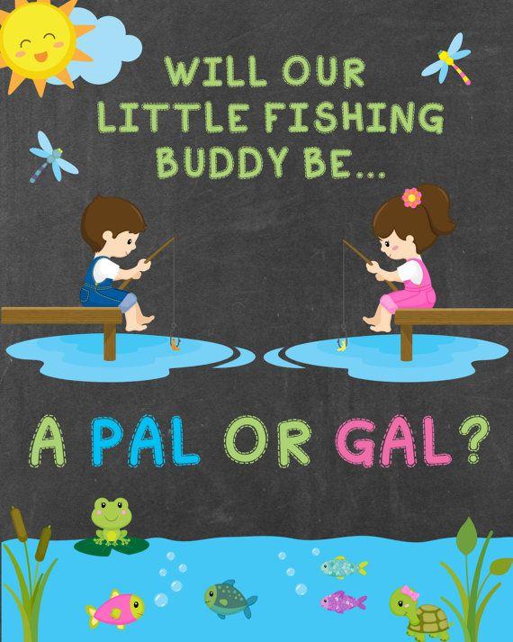 Gender Reveal Sign Gender Reveal Party Decor Fishing