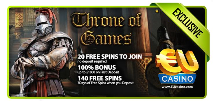 Play in Throne of Games promotion and get 20 free spins to join + 100% up to £1000 first deposit bonus! http://bit.ly/1kXnvC1