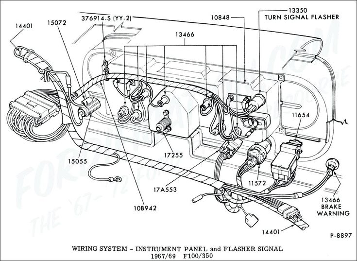 1965 f100 wiring diagram ford truck technical drawings and ...