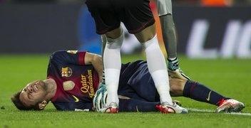 Messi, FC Barcelona. | FC Barcelona 3-1 Celta. > Lio lesionado, sólo una contusión<  03.11.12.