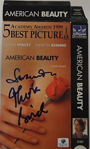 Thora Birch Sam Mendes Hand Signed VHS Cover American Beauty GA GV 541751 for USD47.99 #American  Like the Thora Birch Sam Mendes Hand Signed VHS Cover American Beauty GA GV 541751? Get it at USD47.99!