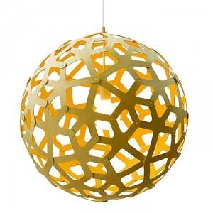 David Trubridge Coral Pendant Light Yellow Paint
