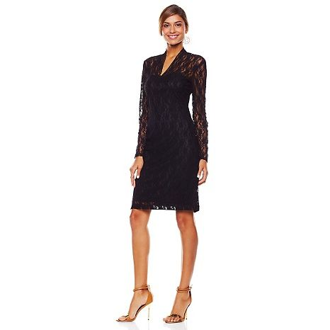 """Tiana B. """"Amazing Lace"""" Long-Sleeve Dress. Beautiful in the BLUSH color!!!"""