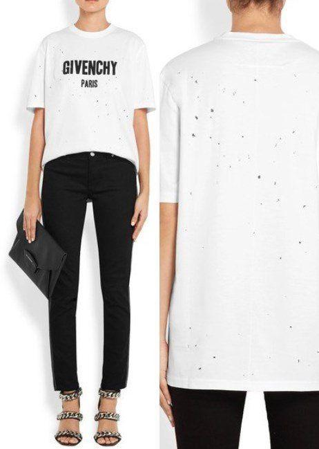 e58fb3fe Top 26 White Luxury Designer T-Shirts for Women in 2018   Buy ...