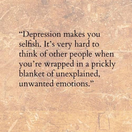 "Depression ""A prickly blanket of unexplained, unwanted emotions"" Such a beautifully descriptive phrase"