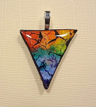 Eggshell mosaic   Rainbow PRIDE pendant by StaindShardStudio, $12.00