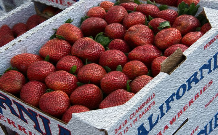 Photo Painted California Strawberries by Michael Moriarty on 500px