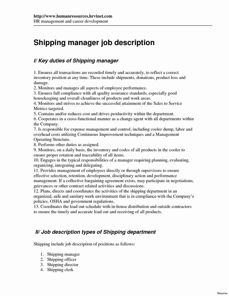 shipping and receiving clerk resume unique 9 cv format for graduate school application supply chain management objective chemical engineering skills