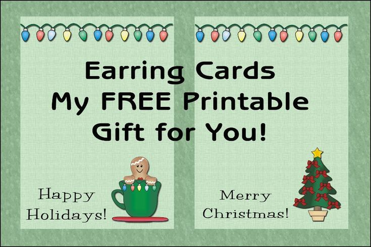 135 best free printable christmas cards tags images on pinterest free printable christmas cards paper crafts free printable christmas earring cards reheart Image collections