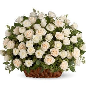 A cherished rose's basket for flowers lovers. Whether it is the matter of celebrations, decorations, friendship or love; gifting a fairy designed 50 white rose flowers basket always brings doorstep happiness for loved one. #Fresh #quality #flowers #delivery #Chandigarh