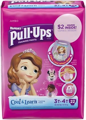 Huggies Pull-Ups Cool & Learn Training Pants - Girls