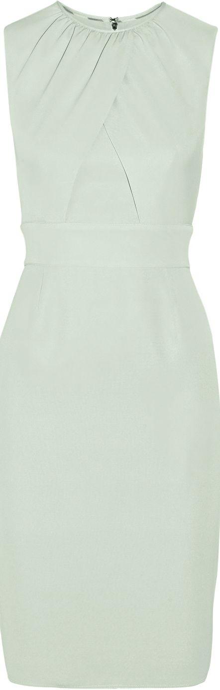 Burberry London ● Mint silk-crepe sheath dress