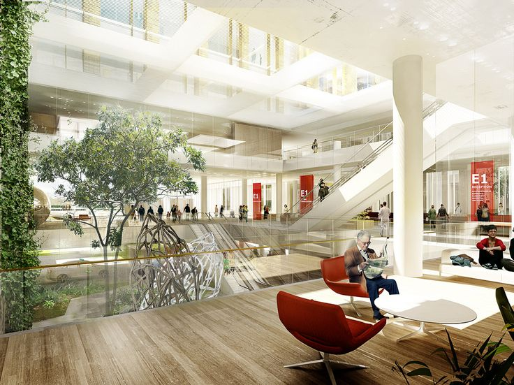 Nyt Hvidovre Hospital by aarhus arkitekterne #hospital #lobby #atrium #danisharchitecture #scandinavianarchitecture #healthcare #aarhusarkitekterne