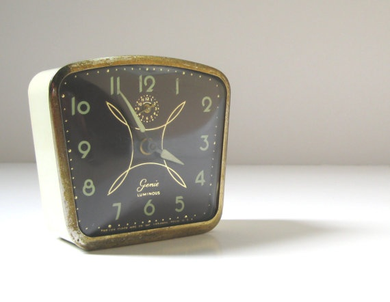 Mid Century Modern Alarm Clock Lux Genie by TheVintageResource, $18.00