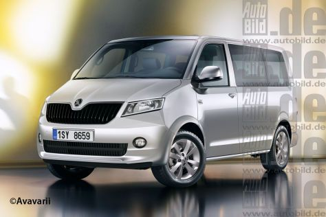 If the cheap Bulli? A minibus à la T5 would fit well above the Yeti and Roomster in Skoda's model range. But VW is playing with here?