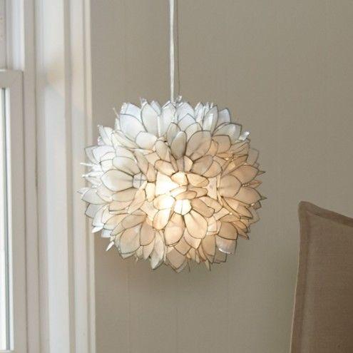 Lotus Flower Capiz Shell Chandelier | VivaTerra