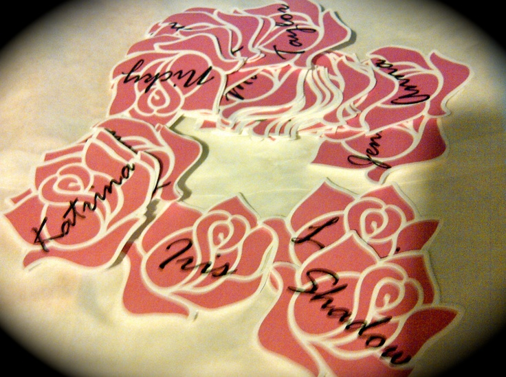Use the Delta Zeta Rose image found in our Graphic Standards manual to create these special DZ nametags.