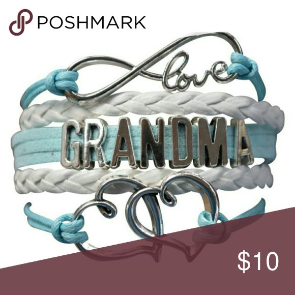 Grandma Bracelet, Grandma Jewelry Grandma Jewelry- New Grandma Bracelet - Great Jewelry  This gorgeous mom bracelet is the perfect gift for you or for her. Mothers, Mom in law, Grandma, Wife, Girlfriend, will love this bracelet and the meaning behind it. This bracelet represents infinite love for that special someone and friendship, love for eternity, love for infinity and sisterhood.  Perfect Gift for New Moms!! Jewelry Bracelets