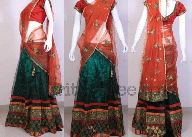 Designer Half Sarees | Designer Half Sarees | Saree Blouse Patterns