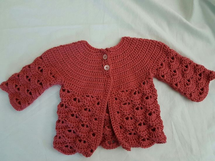 Chaleco niña tejido crochet