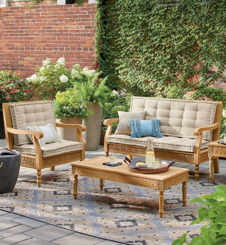 Sentani Teak Outdoor Furniture Collection Grandin Road