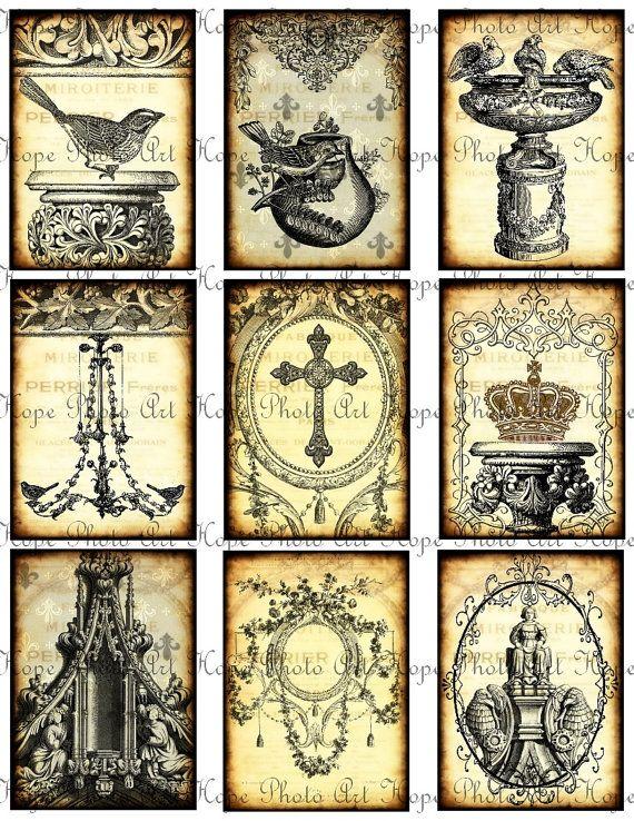 French Ornamental Tags