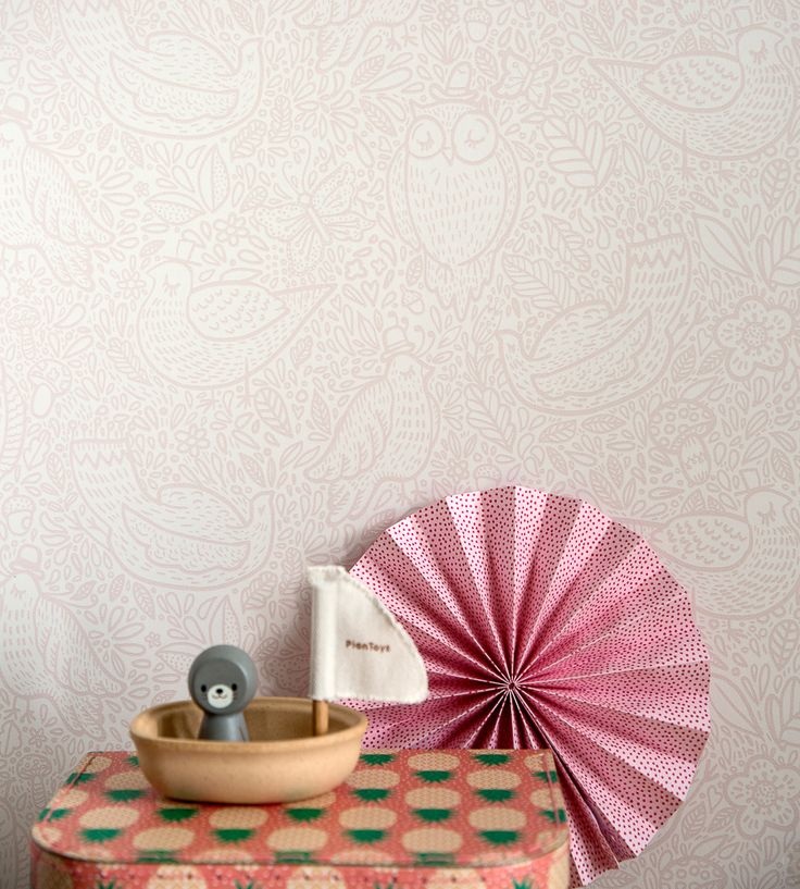 How To Style Girls Rooms | Buddy Birds Wallpaper by Borastapeter | Jane Clayton