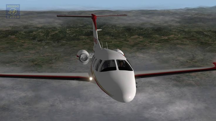 Full instrumental NDB flight with jets Eclipse 550